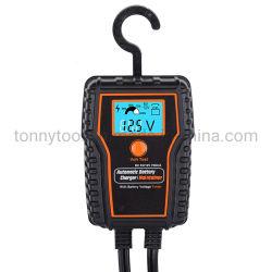 Bewegliches 12V 750mA Motorrad-intelligenter Autobatterie-Aufladeeinheits-Rieseln-Aufladeeinheits-Versorger der LCD-Bildschirmanzeige-mit Batterie-Prüfvorrichtung-Funktion