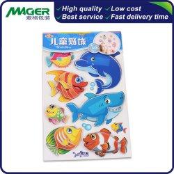 Custom Bright-Colored PVC de dibujos animados en 3D de juguetes para niños decorar Puffy etiqueta adhesiva pegatinas