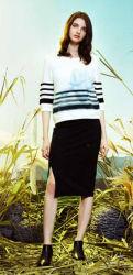 도매 재고 의복 봄과 여름에 있는 숙녀를 위한 절반 소매 면 양털