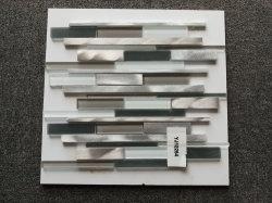 أحدث تصميم المطبخ Backsplash الجدار Mosaic الحمام الزجاج مزيج ألومنيوم تجانب الفسيفساء