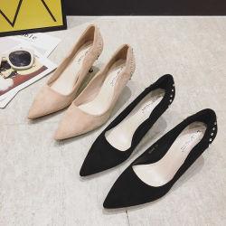 Dame-reizvolle Pumpen-Absatz-Schuhe der Formfaux-Veloursleder-Berufsfrauen für formale Gelegenheit oder Partei