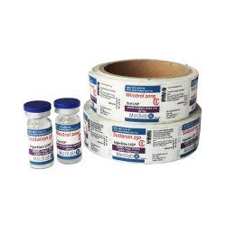 Eco Friendly Package rouleau personnalisé en vinyle PVC fiole de papier autocollant Logo Impression d'ÉTIQUETTE POUR FLACON 10 ml de réactif