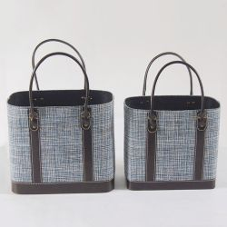Padrão de pano de saco de isolados de almoço bolsas cesto de armazenamento