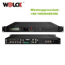 BissのDVB-C DVB-T DVB-S2/Sのための8CH IPTV IRD 8チャネルHD DVB-Cの受信機の専門のサテライトレシーバはスクランブルする