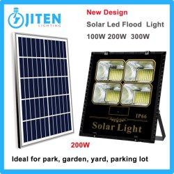 200W Holofote LED Solar com Sistema de Alimentação do painel de parede ao ar livre no pátio do jardim Street Park Use Iluminação High Bay Industrial Lâmpada da canópia