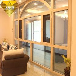 Cristal templado puertas y ventanas de aluminio de Casement Windows impacto de huracanes de la pantalla de Windows con Ss Mosquito