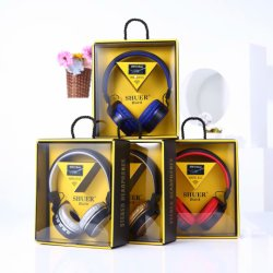 Fone de ouvido Bluetooth sem fio FM Slot para cartão SD Rádio Dobrável Jack 3,5 mm Fone de ouvido com microfone embutido6118