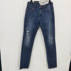 Cor do meio Skinny Aplicar efeito quebrado Especial Homem Denim Jeans Usados