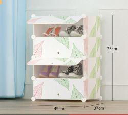 Bricolaje Multiuso moderno Cubo de plástico de 4 a 8 de estante, armario de zapatos Zapatos ropa de la puerta de patrón