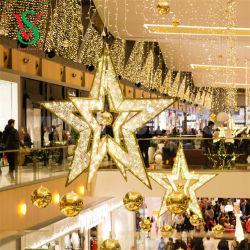 크리스마스 상점가 거대한 거는 별 훈장 빛