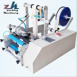 Bouteille ronde Semi-Auto Labeling machine/l'étiqueteuse avec codeur/machine de codage
