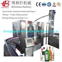 ガラスビンのアルミニウムびんの度の強い酒/1の満ち、密封機械3を洗うジュースのウィスキー/ウォッカの充填機