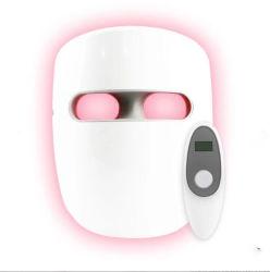 3 haut de gamme de couleurs personnalisées Newowo 120 Perles de LED de la peau du visage de thérapie de récupération masque de beauté avec télécommande pour utiliser des foyers de soins Persaonal