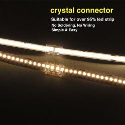 Conector Rápido para a faixa de LED de sabugo Solder-Free Conector para COB tira RGB