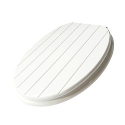 Bordé en bois sculpté la moisissure blanche siège des toilettes