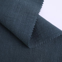 Aspect lin Matériau du vêtement Plain teints tricot jersey polyester vert
