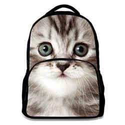 Animal de la moda de diseño de Gato niños Mochila Mochila escolar