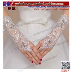 Guanti di cerimonia nuziale che Wedding il guanto nuziale dei guanti degli accessori dei guanti di seta del merletto (B6077)