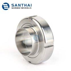 Unión del tubo de acero inoxidable de grado higiénico sanitarias tuerca redonda 3BS DIN Ds Rjt Unión Rosca de SMS