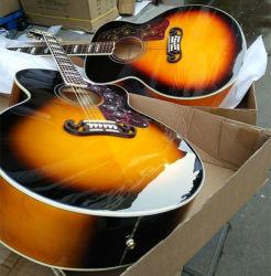 """둥근 바디 Chibson J200 음향 기타 GB Sj200 엄청나게 큰 기타 단풍나무 바디 J200 43 인치 대 청각적인 일렉트릭 기타 43 """" 전기 음향 기타"""