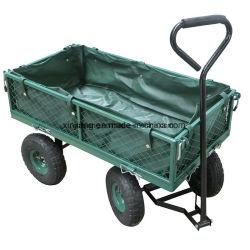 Outils de jardin de 250kg capacité de charge Mesh Panier Jardin Wagon avec roue de l'air en caoutchouc de 10 pouces jante en acier