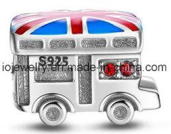 Van de Britse van de douane de Zilveren Kleur van het Email van de Parel Charme van de Bus