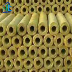 Absorbant le son du tuyau de laine de roche/tube,Tuyau Laine de roche minérale avec du papier aluminium,la densité d'80-140Kg/m3,la laine de roche pour le pipeline le coude du tuyau de,la laine de roche pour la chaudière de la chaleur
