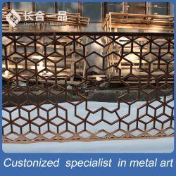 Un design moderne personnalisé en acier inoxydable salle décoratifs écrans découpé au laser