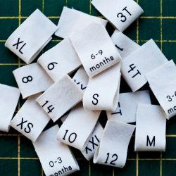 Одежда эмблемы Custom тканого одежду метке полиэстер Пользовательские метки одежды теги складывания тканого размер этикетки одежды футболка теги
