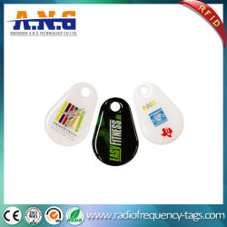 ISO14443um controle de acesso a etiqueta da chave de RFID de epóxi com orifício de perfuração