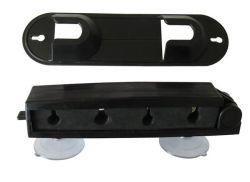 Roestvrijstalen visstaafhouder met zuignap-bekers voor eenvoudig gebruik Wagen