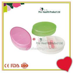 Forme ovale Non-Toxic pilule Boîte en plastique de qualité alimentaire