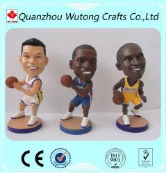 Artesanías Venta caliente NBA figuras Bobblehead de resina de regalo de recuerdo