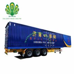 Express y logística de la caja de carga Van tipo semi remolque para venta