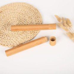 Private Label 100% Biodegradab природных бамбук зубную щетку в случае держатель