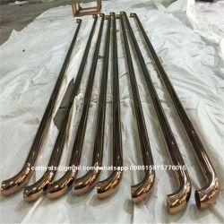 صنع وفقا لطلب الزّبون [ستينلسّ ستيل] عملّيّة سحب مقبض, مستديرة أو مربّعة أنبوب مقبض