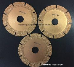 Vacuüm Solderende Scherpe Schijf 100mm het Blad van de Zaag van de Cirkel van de Diamant van 150mm 180mm