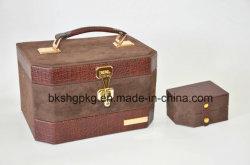 Prix de gros PU Zone de stockage en cuir pour bijoux et accessoires