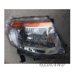 4x4 Auto Accesorios de coche Faro negro para Ford Ranger T6 2012-2014