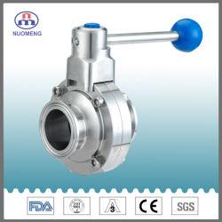 Les mesures sanitaires SS304 en acier inoxydable/SS316L manuel et la bille de papillon à commande pneumatique&&membrane de la vanne