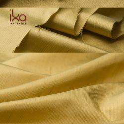 Commerce de gros jaune 14mm Fashion Designer de teinture de fils de soie indienne de tissu pour chemises Dupioni