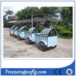Carrinhos de envio de gelados /Gelato Showcase congeladores para venda