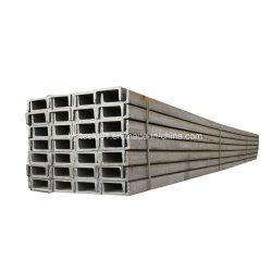 Barra a U nera dell'acciaio per costruzioni edili