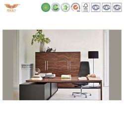 Металлическая рама деревянную поверхность верхней части стали на компьютер в офисе Стол письменный стол