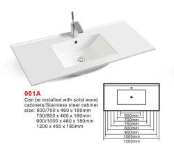 حوض الخزانة (رقم 001A) حمام مستطيل من السيراميك وحوض استحمام
