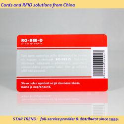 Rabatt! Cmyk-Offsetdruck Für Kunststoffkartendruck/PVC-Barcode-Karte anpassen