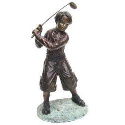 Garçon moderne/man jouer au golf Sculpture en bronze/Statue