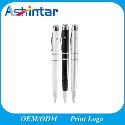 قلم معدني USB Memory Stick مؤشر الليزر قرص فلاش USB