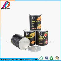 Ajuste personalizado de calidad alimentaria de la tapa del tubo de cartón de embalaje con papel de aluminio para frutos secos