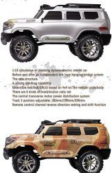 401-1/10 la pleine échelle 2.4G RC Voiture d'escalade avec 4RM off - modèle de véhicule routier - US Plug